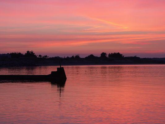 coucher de soleil sur Pénestin