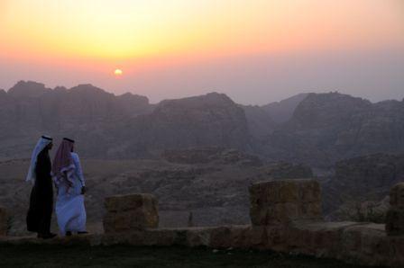 Coucher de soleil sur Petra