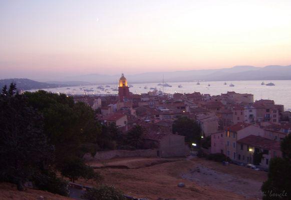 Coucher de soleil sur Saint-Tropez