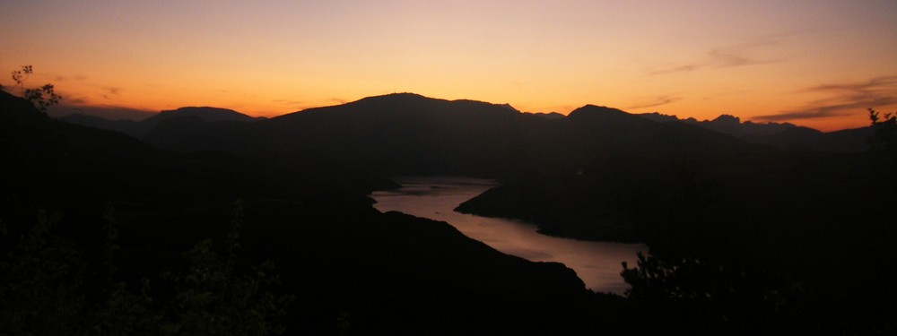 Coucher de soleil sur Serre Ponçon