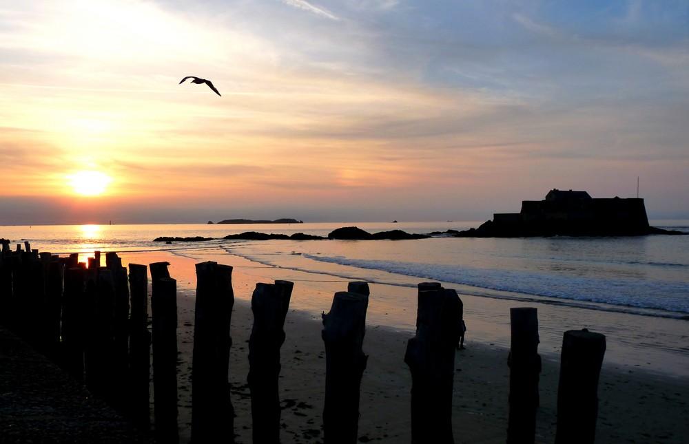 Coucher de soleil sur St-Malo