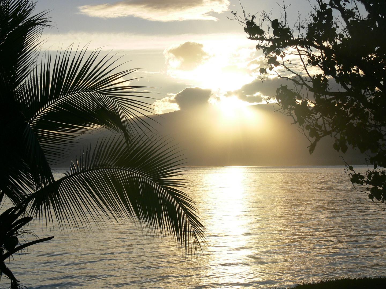Coucher de soleil sur Tahiti