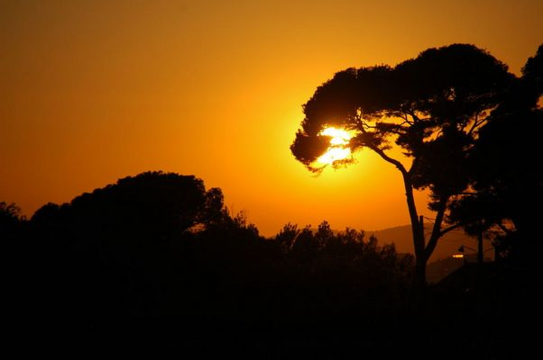 Coucher de soleil sur Toulon.(var,France)