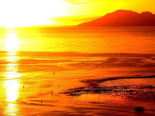 Coucher de soleil taapune (TAHITI)