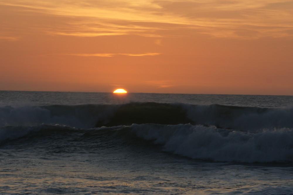 coucher de soleil un soir d ' hiver à Capbreton