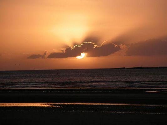 coucher de soleil,soir dété a Asnelle