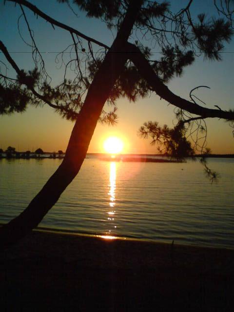 coucher lac Sanguinet