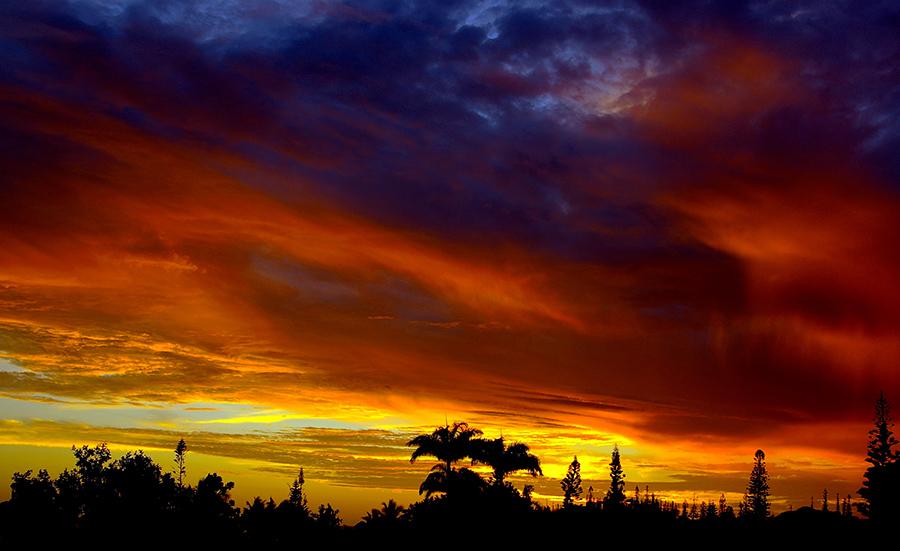 coucher soleil à la Baie d'Anse Vata - Nouméa, Nouvelle Calédonie