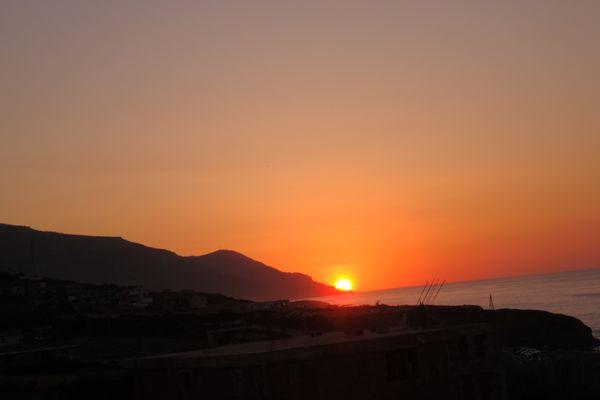 coucher soleil Azzefoun