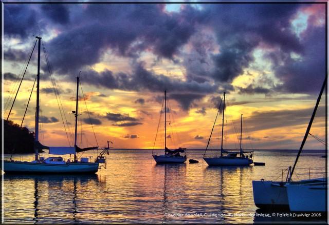 Coucher soleil Le Marin en Martinique