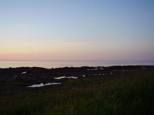Coucher soleil Métis sur mer-Gaspésie