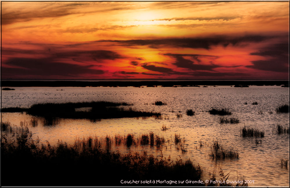 coucher soleil Mortagne sur Gironde