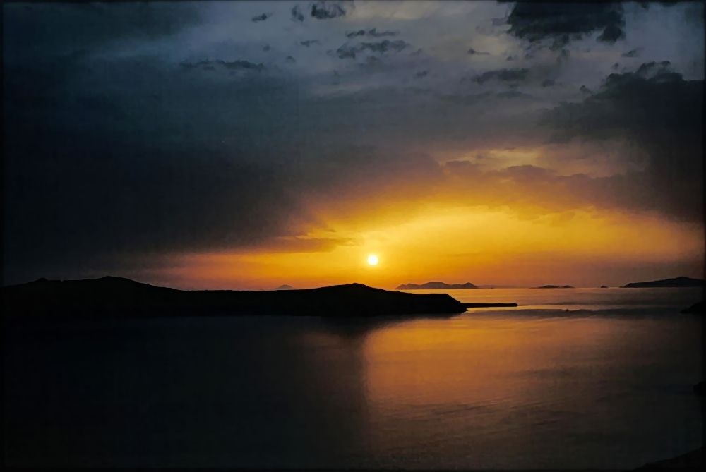 coucher sur le cratère marin (filtré)