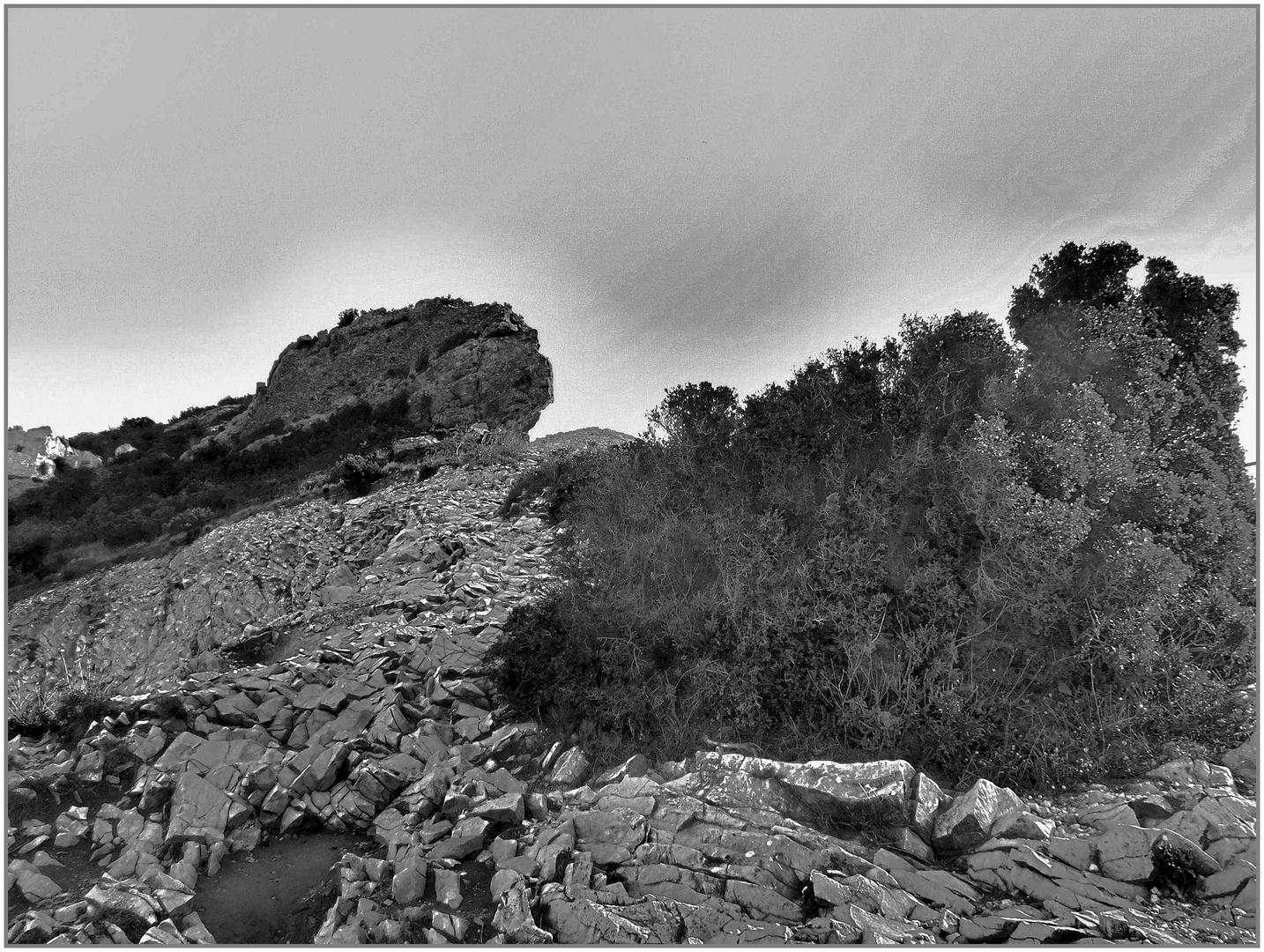 coulée de roches...