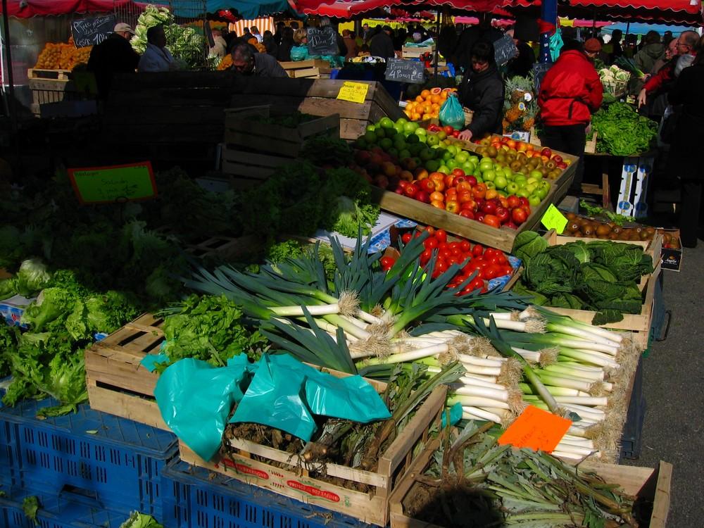 couleurs de marché