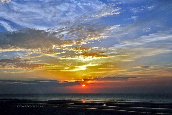 couleurs dégradées beim Sonnenuntergang