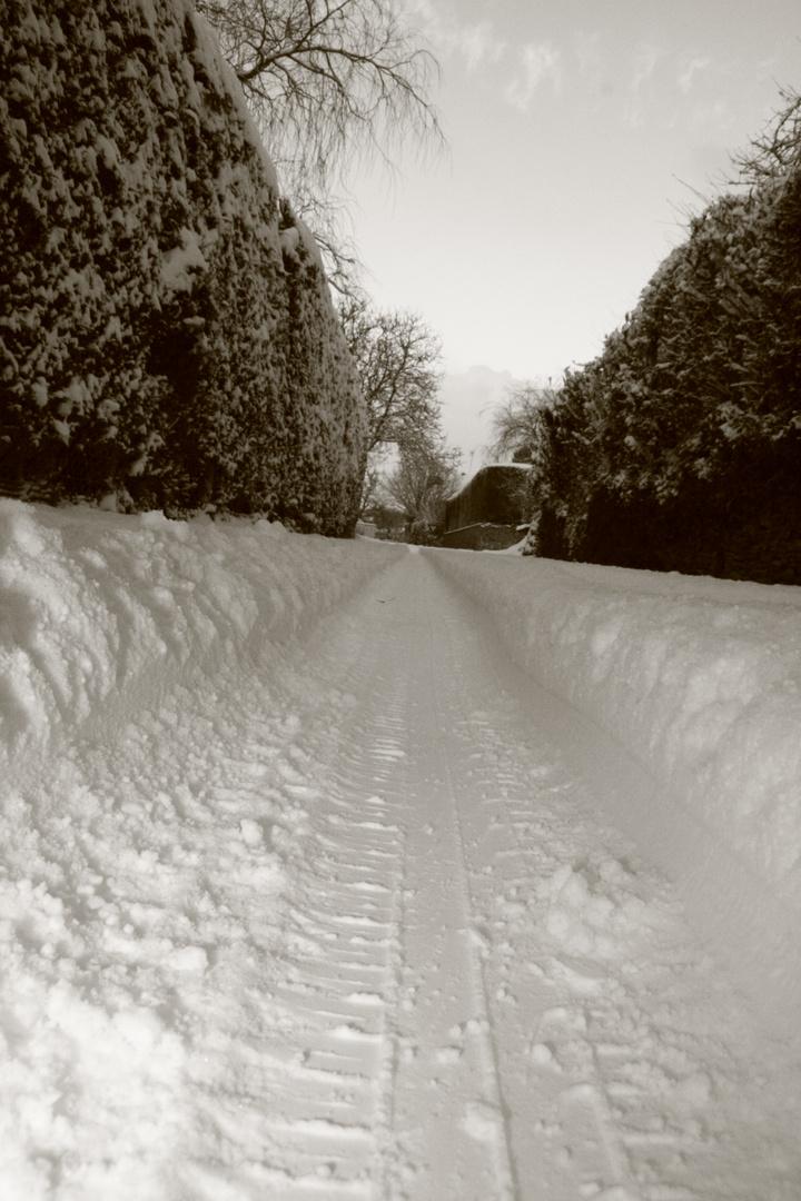 Couloir de neige ...