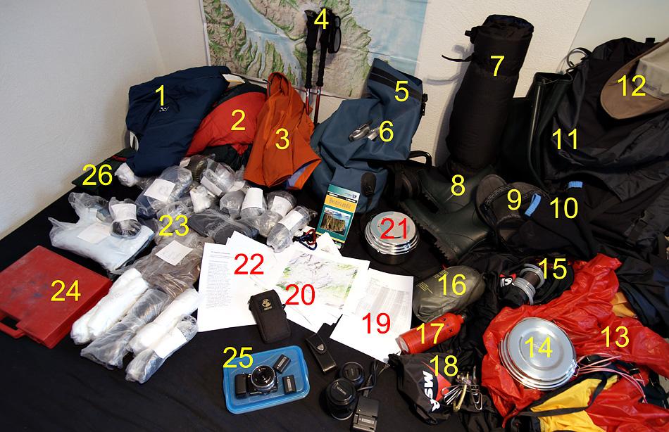 Countdown noch 7 Tage -  Island Hornstrandir Foto Trekking 2010 - Rüstliste