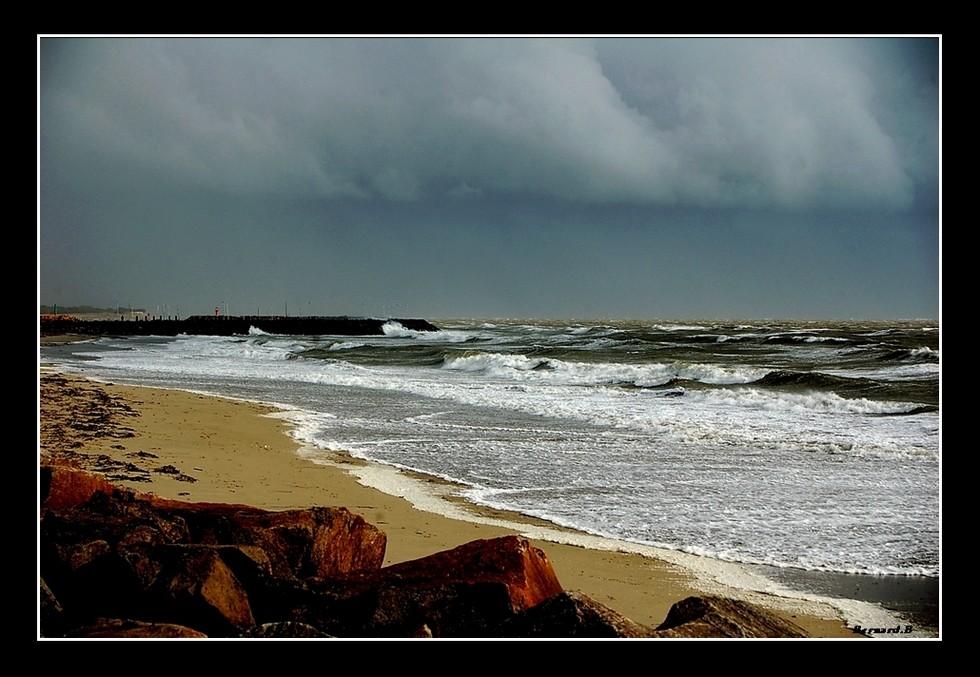 Coup de vent sur l'océan