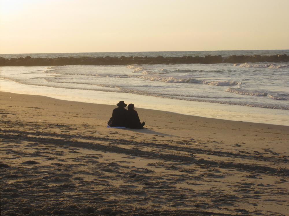 Couple at the beach Tel Aviv