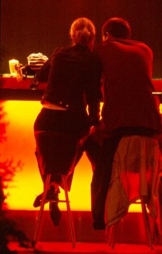 couple at the Capuzino-lounge, 11.30 p.m.