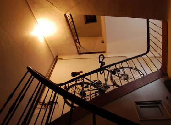 course d'escalier