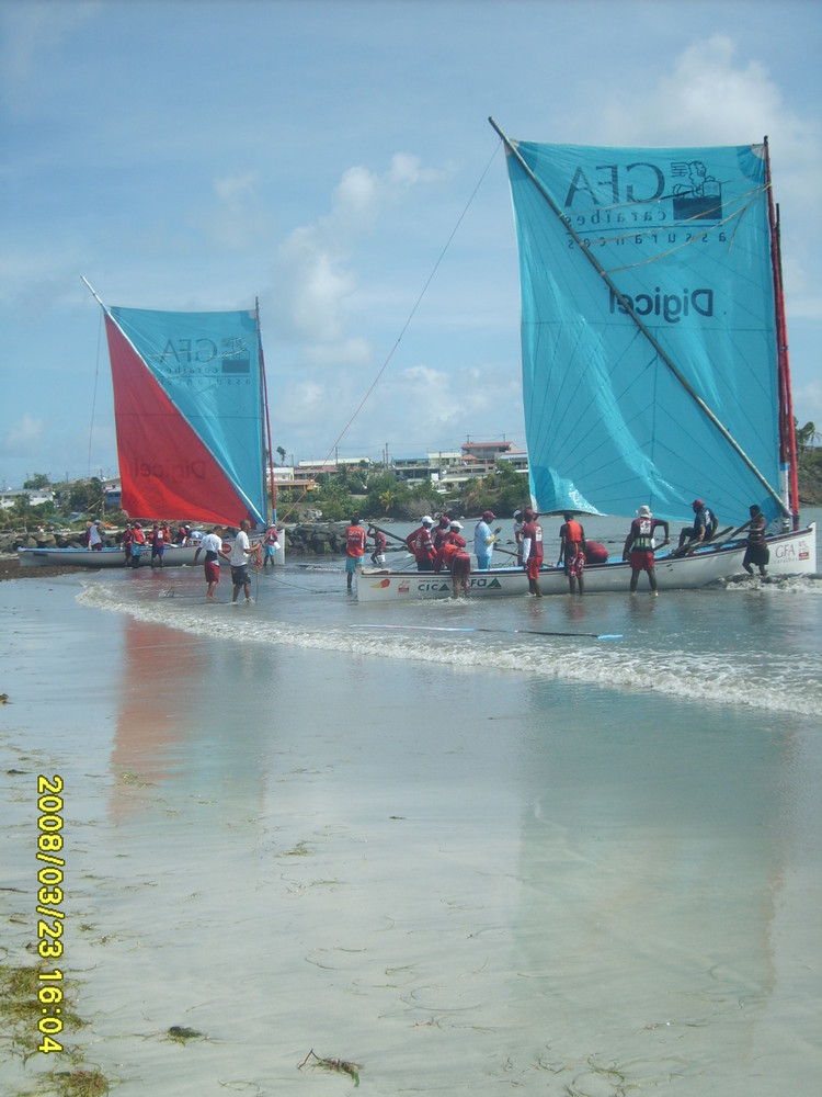 courses de yoles en martinique