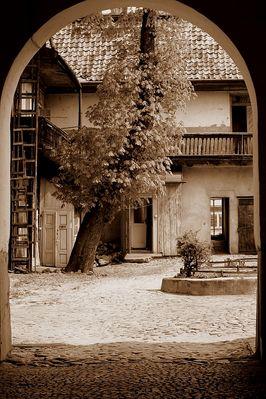Courtyard near Grodzka Street in Plock / Poland /