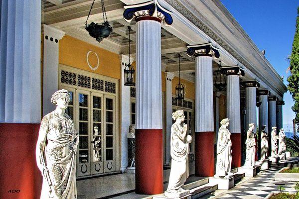 Courtyard of the Achilleion (2)