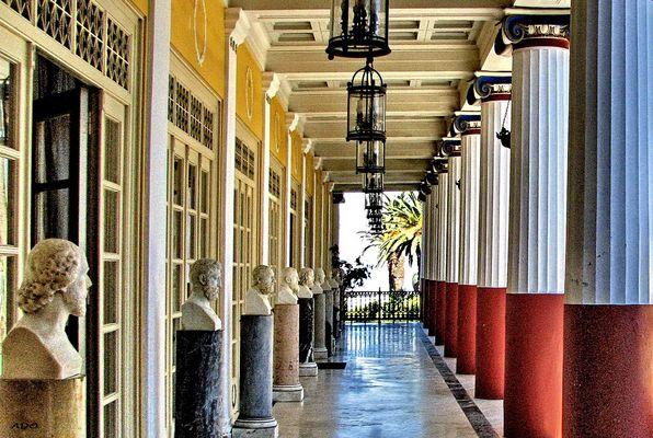Courtyard of the Achilleion