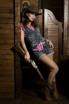 CowGirl goes armed ...