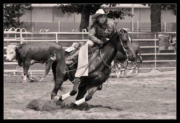 Cowgirl im Einsatz