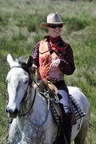 Cowgirl in der Camargue