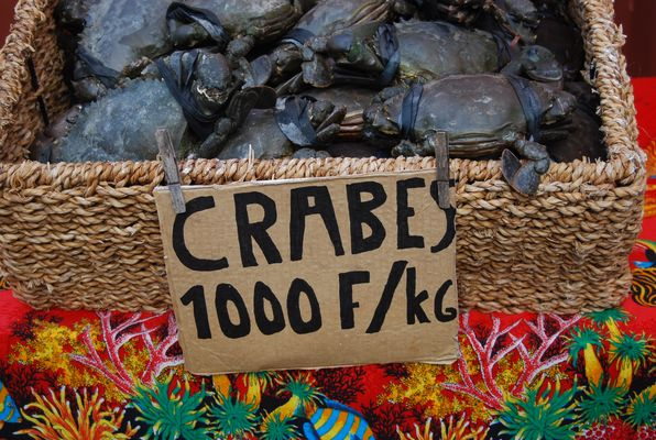 Crabes au marché