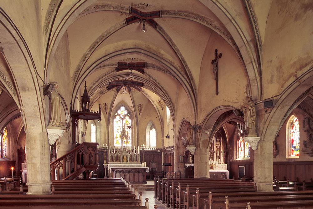 CRAINCOURT (Moselle), Église Saint-Martin, Inneres nach Osten