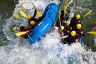 Crash beim Rafting