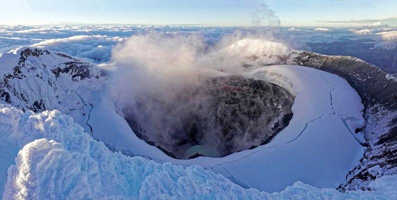 Cratère sommital Fumant du Cotopaxi