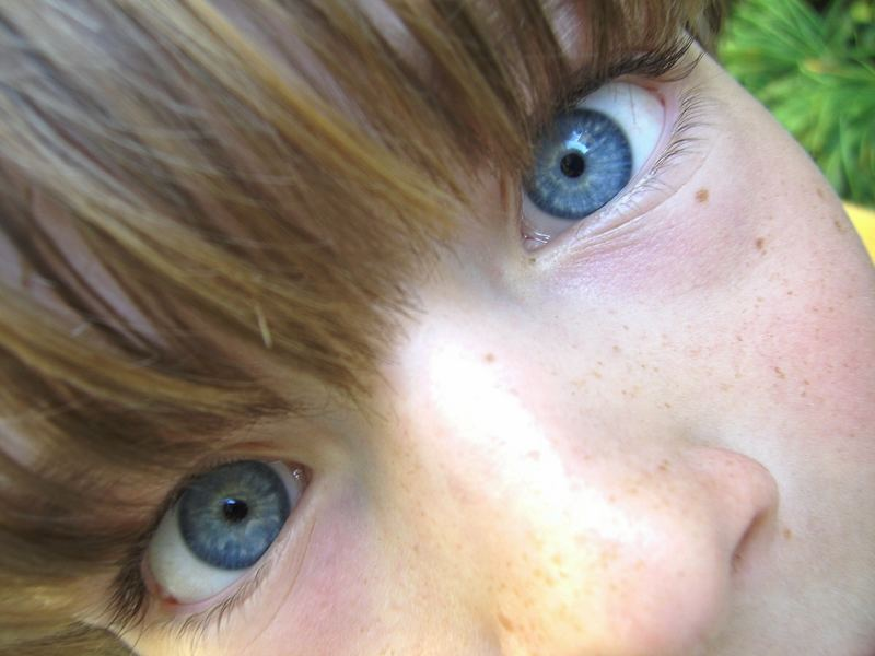 crazy blue eyes close up