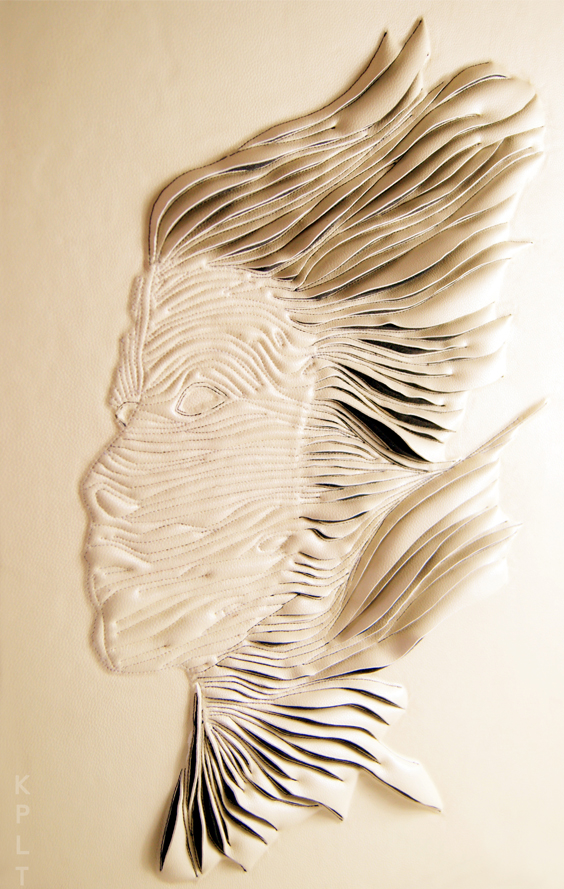 Creative leather carving——portraits