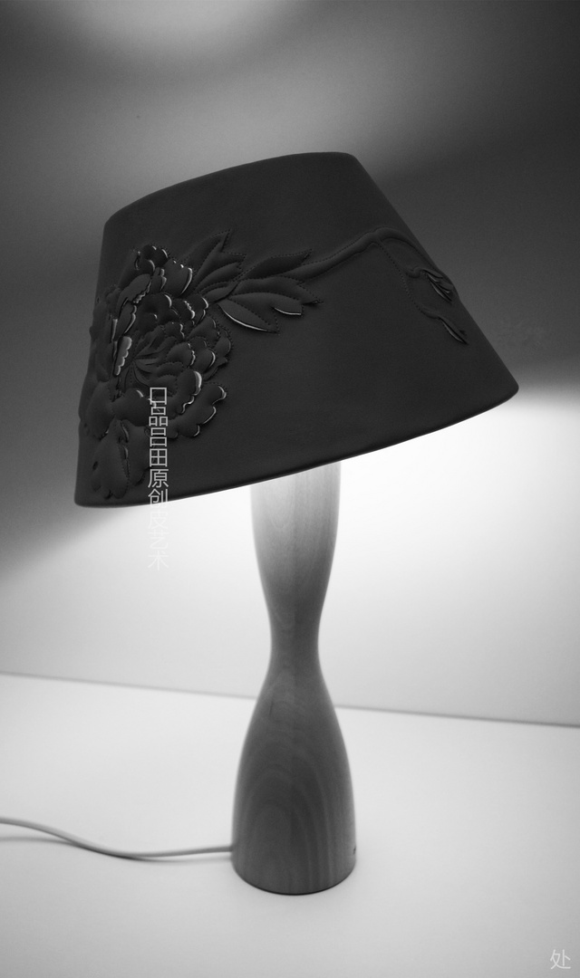 Creative leather lamps