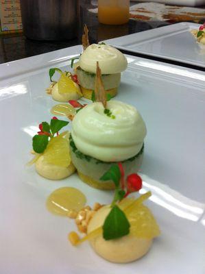 crème de nougat ,granité mojito espuma de kombawa