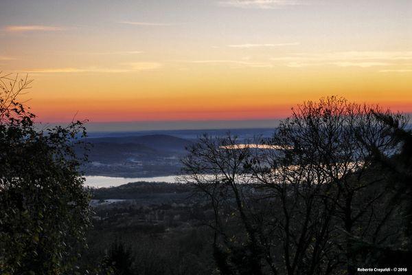 Crepuscolo dal Sacro Monte di Varese
