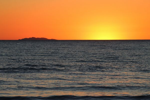 Crepuscolo - isola di Capraia