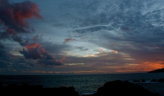 Crépuscule dans le Sud de l'île - Saint Philippe