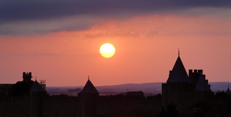 Crépuscule sur Carcassonne