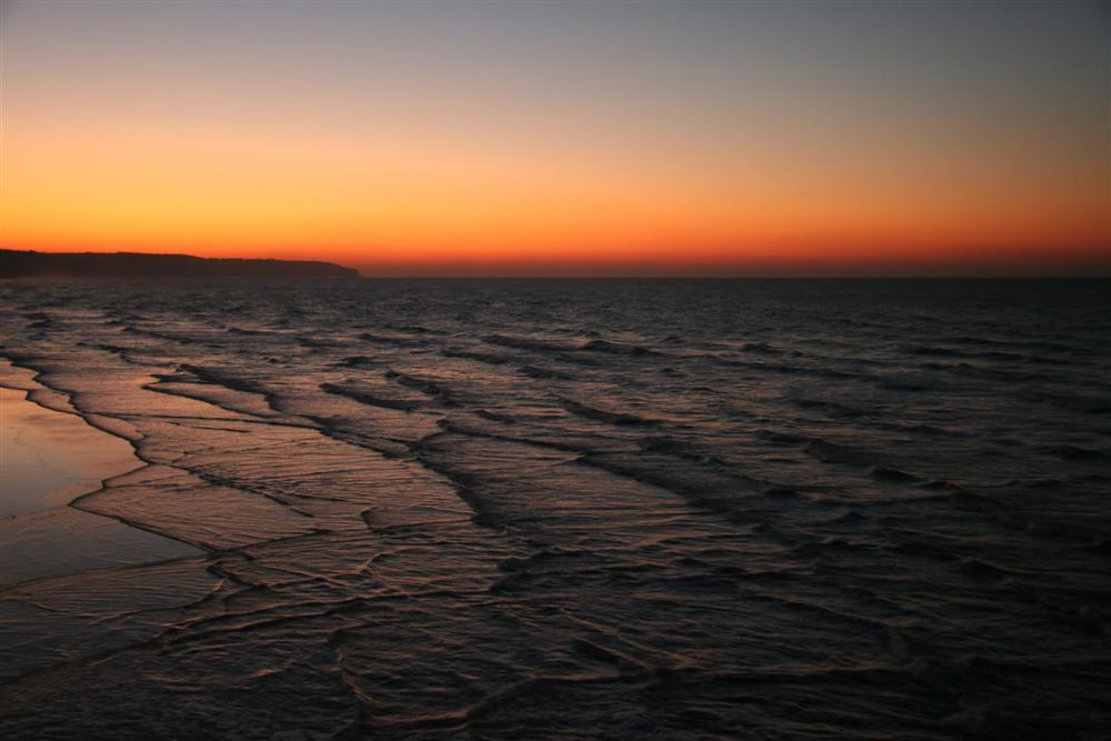 Crépuscule sur la baie de Dieppe