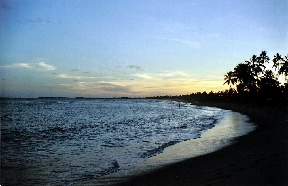 crépuscule sur la côte