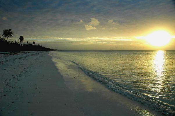 Crépuscule sur un atoll