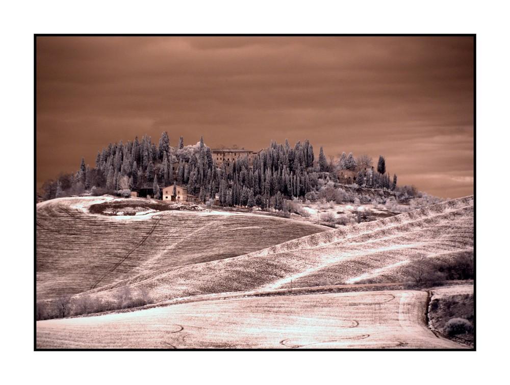 Crete Senesi 4 Infrared Photo
