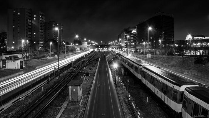 Creteil's subway by night